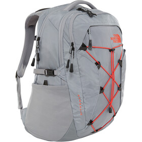 The North Face Borealis Mochila Mujer, mid grey/juicy red